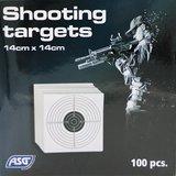 ASG Schietkaarten 14 x 14, 100 stuks_